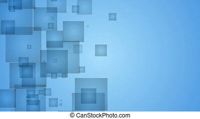 Abstract Blue Squares.