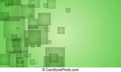 Abstract Green Squares.