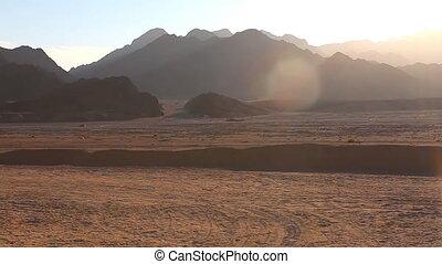 Mountain in the desert of Egypt