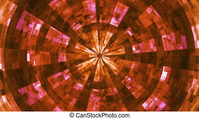 Twinkling Hi-Tech Grunge Flame Tunnel, Orange, Abstract, Loopable, HD