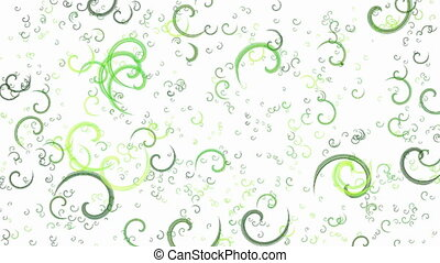 Animated green spirals background - Abstract animated green...
