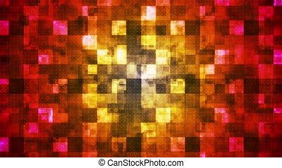 Metal Hi-Tech Squared Smoke Shifting Patterns, Multi Color, Abstract, Loop, HD