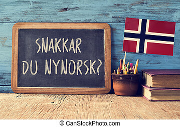 question do you speak Norwegian written in Norwegian - a...