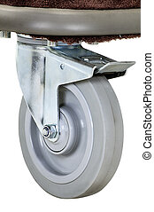 Close up of a Hostel wheel cart isolated on white