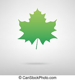 Leaf green icon