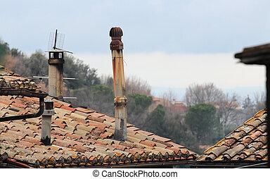 Soriano nel Cimino roofs - Soriano nel Cimino ancient town...