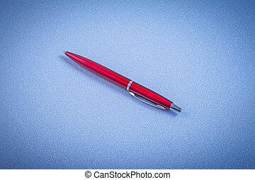 vermelho, biro, caneta, horizontais, vista,...