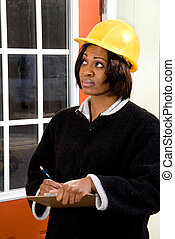 Female Construction Inspector