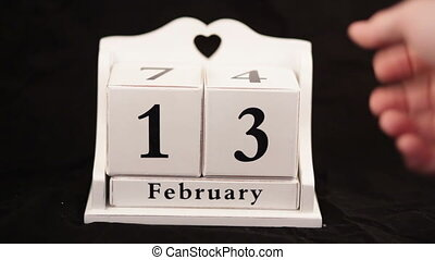 Valentines Day Calendar cube hand video