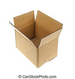 Isolated cardboard box