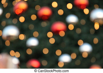 Abstract Bokeh Christmas circles of light