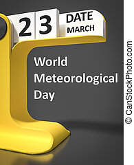 vintage calendar World Meteorological Day - vintage calendar...