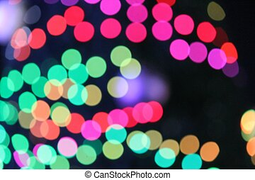 Abstract Bokeh circles of light