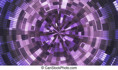 Twinkling Hi-Tech Grunge Flame Tunnel, Purple, Abstract, Loopable, HD