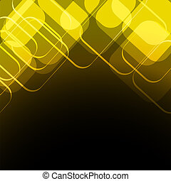 gold with black rhombus background
