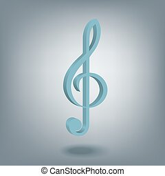 Treble Clef symbol - Musical abstraction - Treble clef...