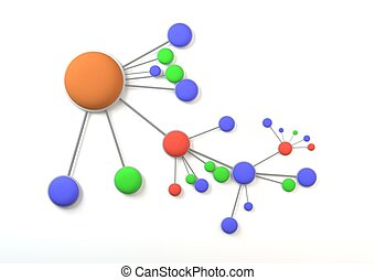 colorful mind mapping - mind mapping color circles with...