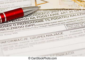 one percent for public benefit organization, Polish tax form...