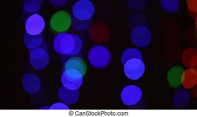 Abstract black background with flashing lights