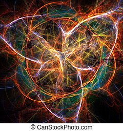 abstract fractal background - Colorful glowing abstract...