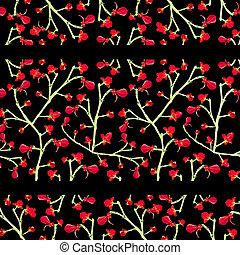 Floral Lace Stripes Pattern - Digital collage technique...