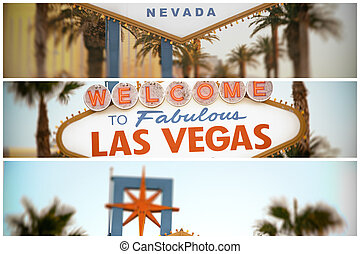Welcome to las Vegas - Collage of the world famous Welcome...
