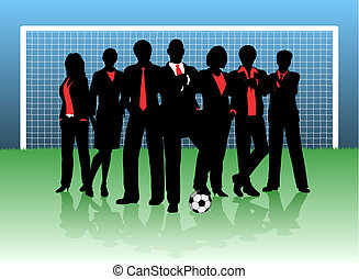 Business goal - Editable vector illustration of a business...