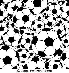 Soccer ball tile - Editable vector seamless tile of soccer...