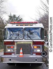 Firetruck - A Firetruck at the scene of an emergency