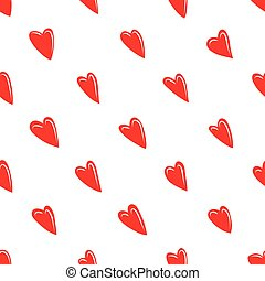 Valentine texture with red hearts