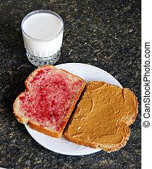 Peanut Butter Jelly Sandwich - Open peanut butter and jelly...