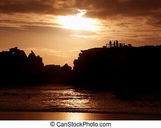 Hopkins River Sunset Warrnambool Australia - Sunset over the...