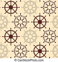Seamless pattern made of steering wheels