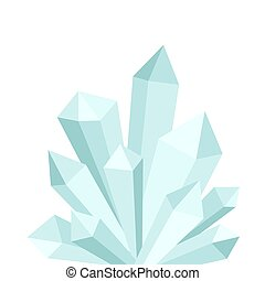 Blue crystal druse on white background