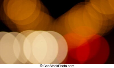Blurred night road lights