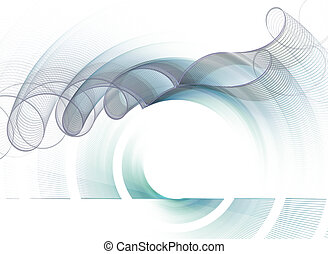 Abstract fractal pattern on white background