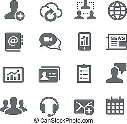 Business Communications - Utility - Icons for your digital...
