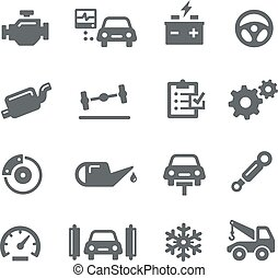 Car Service Icons - Utility - Icons for your digital or...