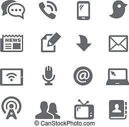 Telecommunications Icons - Utility - Icons for your digital...