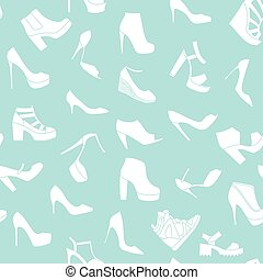 Seamless pattern made of fashionable shoes