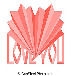 Origami Saint Valentine's day card