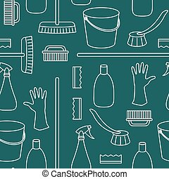 of household cleaning objects
