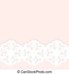 Decorative lacy border