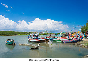 Fishing boats from Prachuap province of Thailand