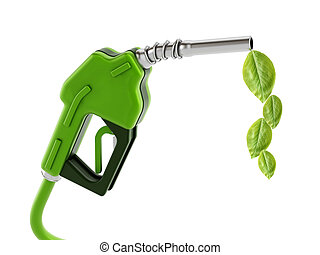 Green gas nozzle with leaves