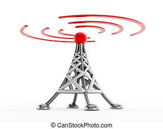 sem fios, comunicação, torre