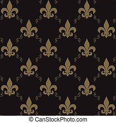 Seamless Fleur De Lis Pattern