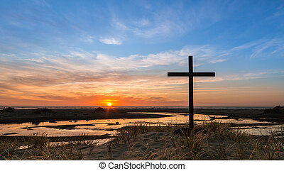 Sand Hill Cross Sunset