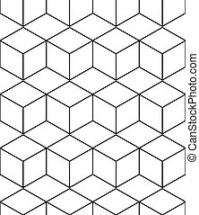 abstract geometric background with isometric cubes