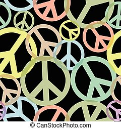 Seamless Peace Sign Pattern
